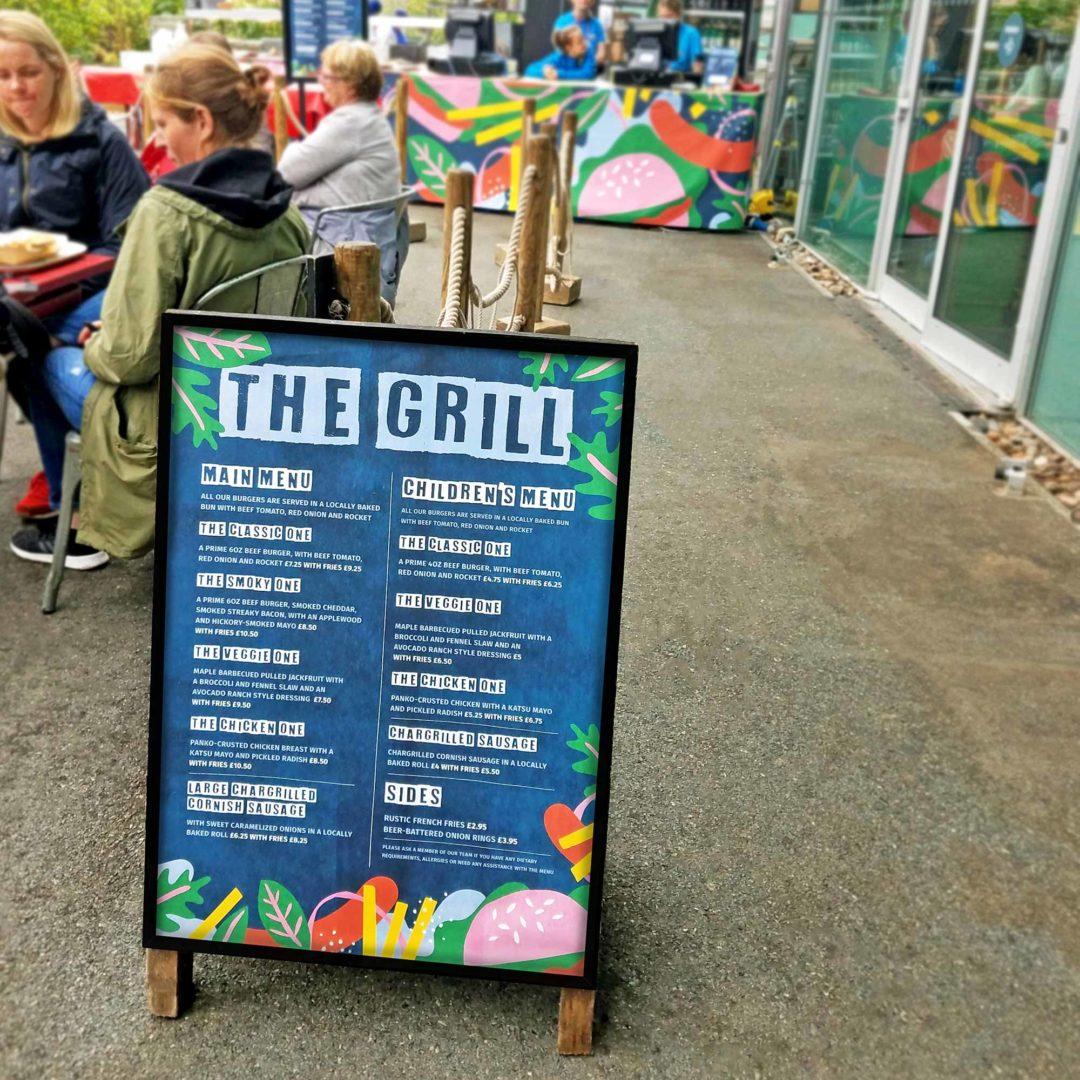Eden Project The Grill branding