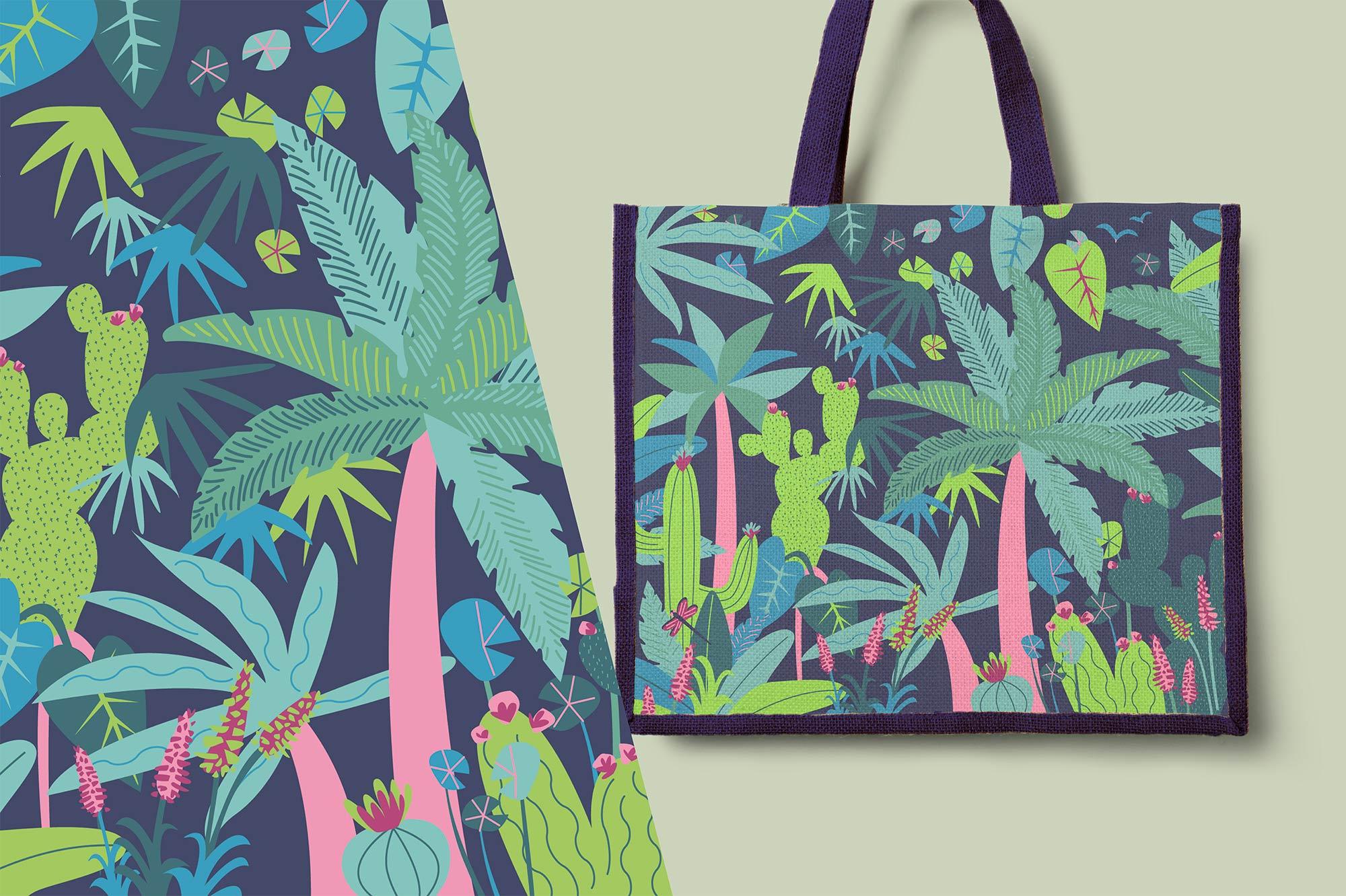 Eden Project tropical jute bag