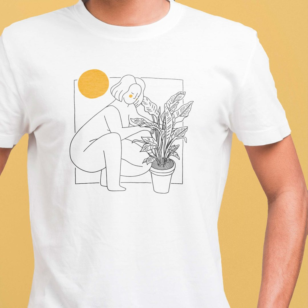 Me and my plants illustrated tshirt