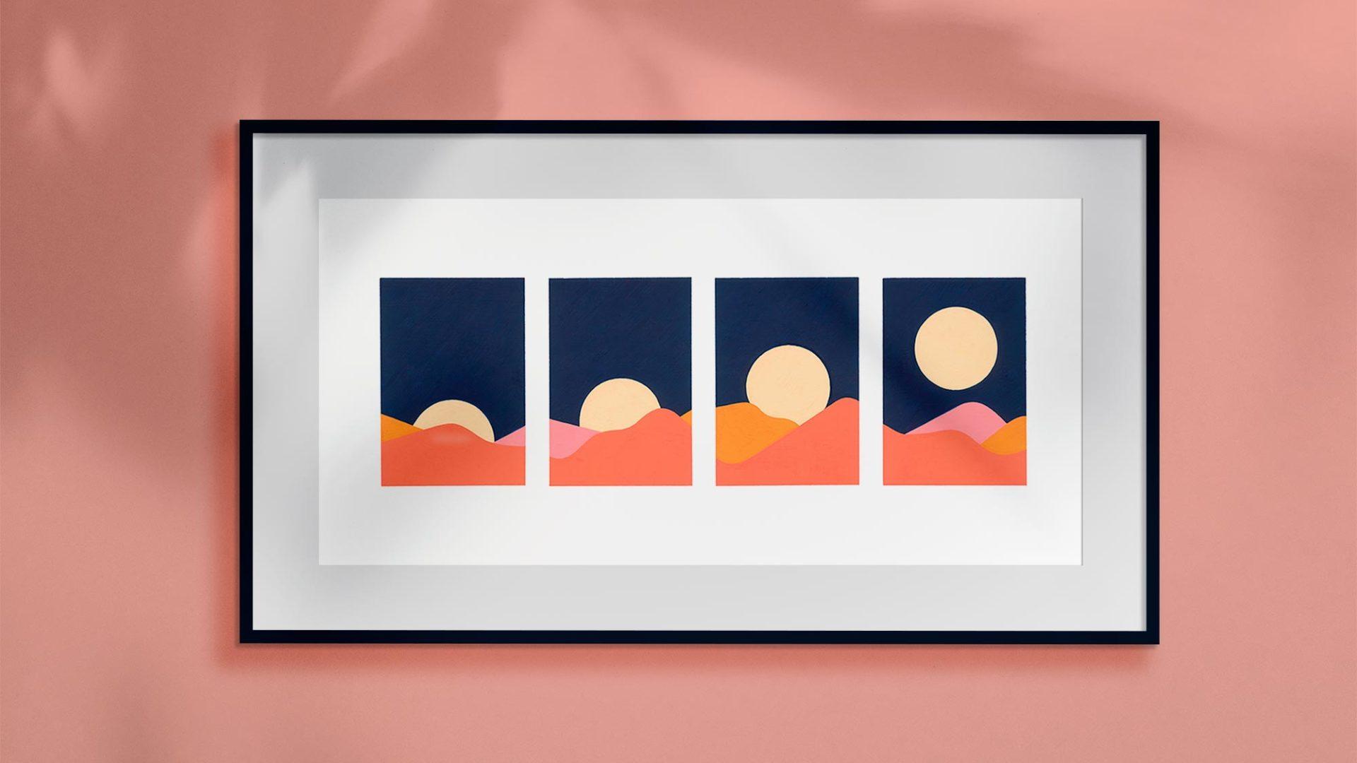 Moon art prints