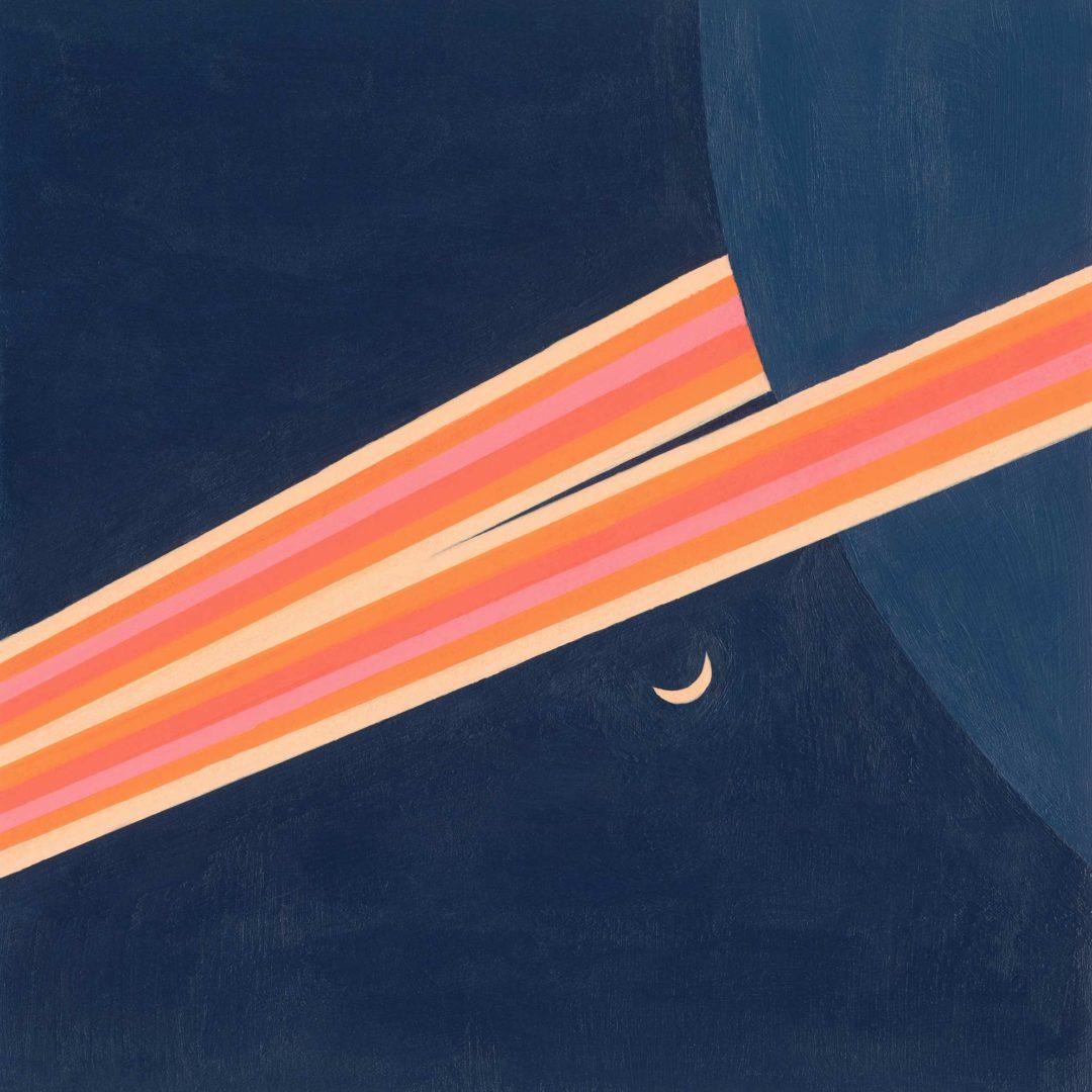 Saturn abstract art print