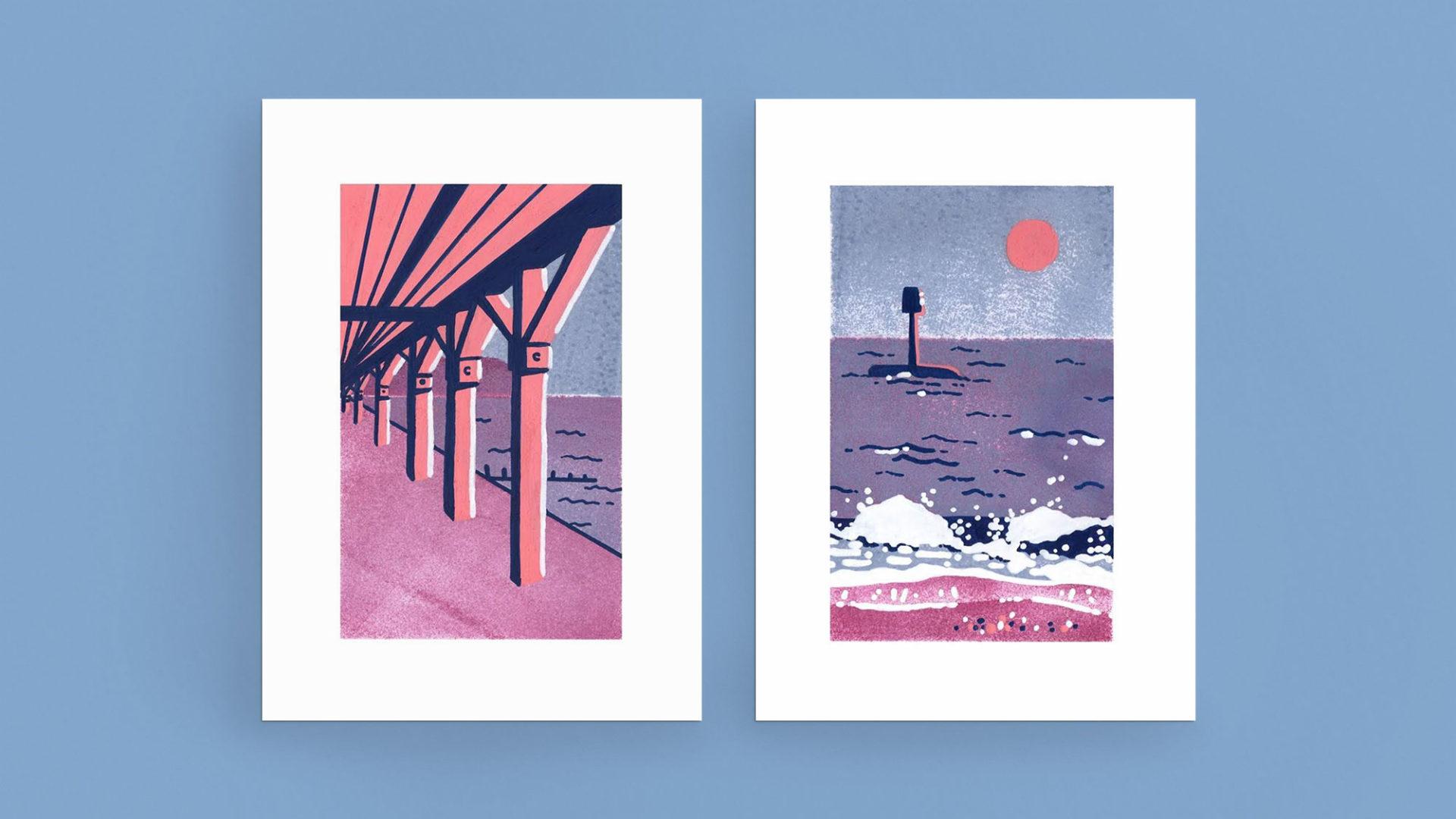 Travel illustrations Dawlish