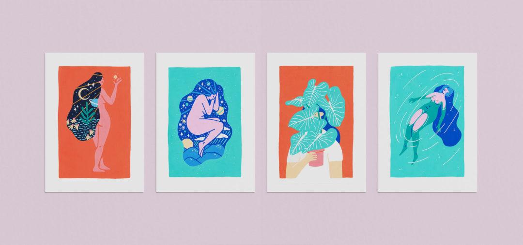 Inktober 2020 girls series