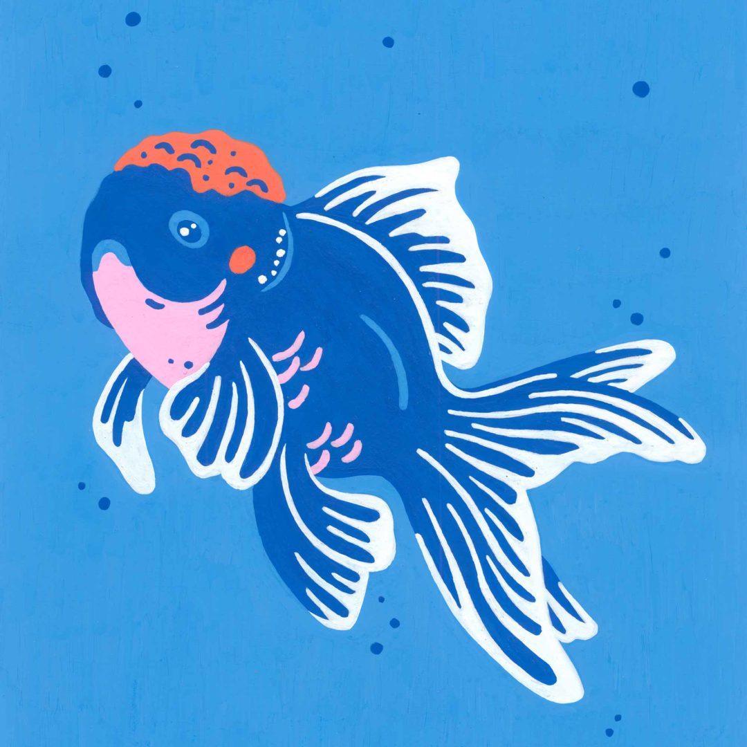 Pet portrait - Carlton the fish
